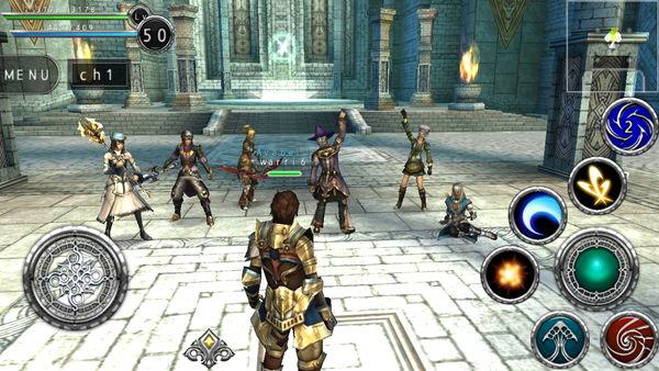 他のプレイヤーが目の前で手を上げ、ガッツポーズをしています。