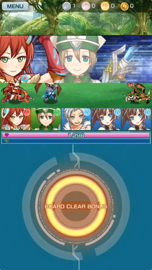 パネルを全部めくってボーナス攻撃が発動した画面です。