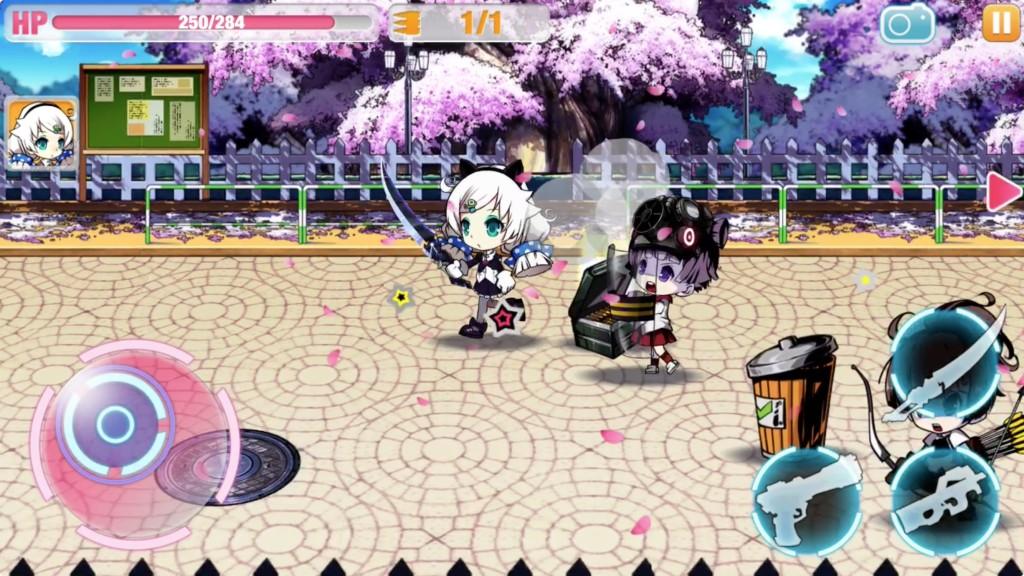 剣を装備した美少女がゾンビから逃げ回っています。