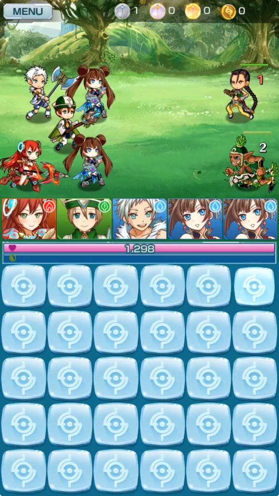 マグナメモリアの戦闘画面です。30枚のパネルが画面下部に表示されています。