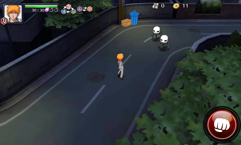 フィールド上で敵と遭遇した時の画面です。二匹の虚空がコチラに近づいてきます。