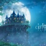 クリプトラクトの幻想的な世界を表現した闇夜に浮かぶお城の絵です。