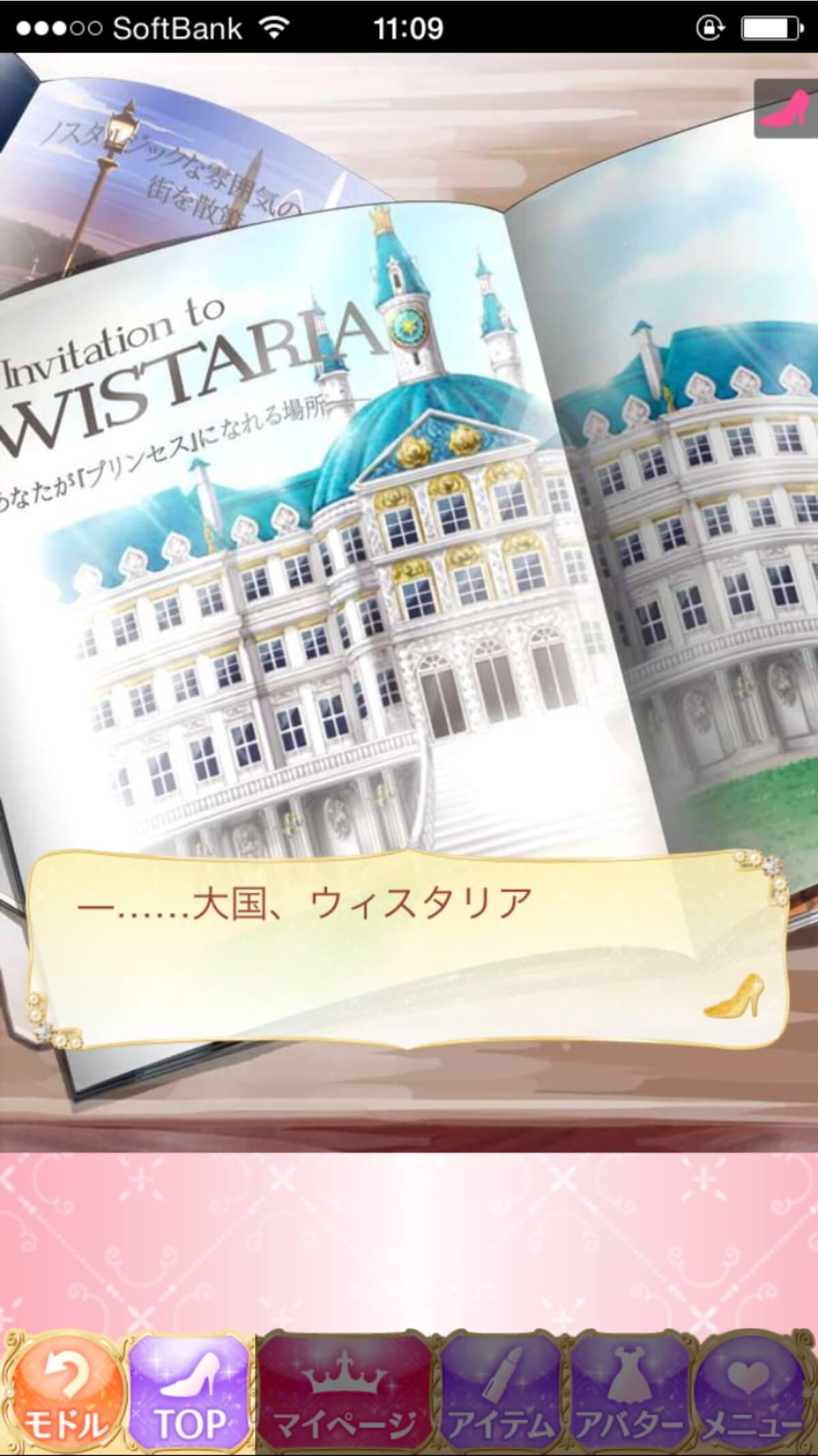 誰もがプリンセスになれる場所、「ウィスタリア」と書かれたパンフレットが広げられています。