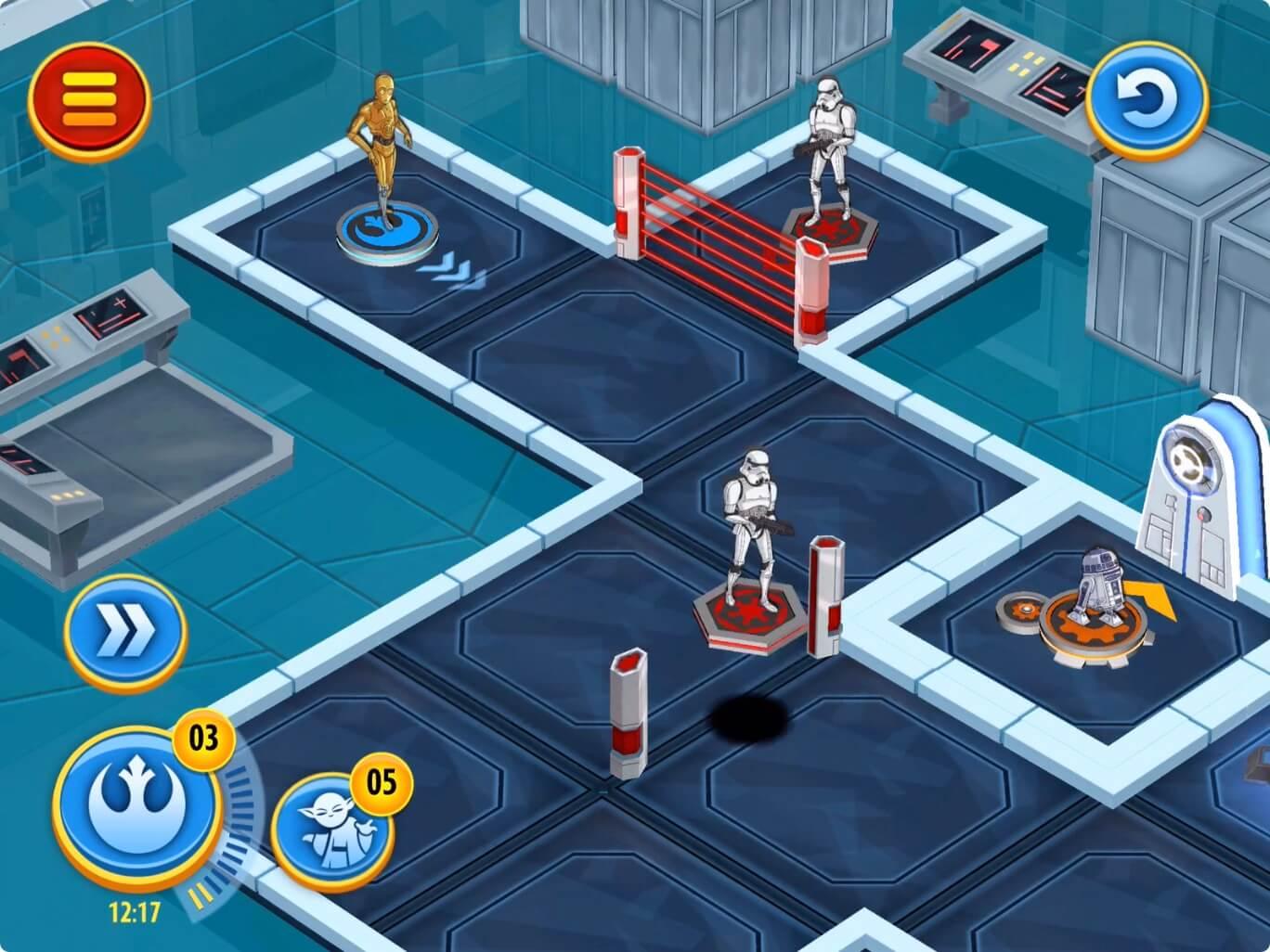ヒーローパスのゲームを実際にプレイしている画像です。