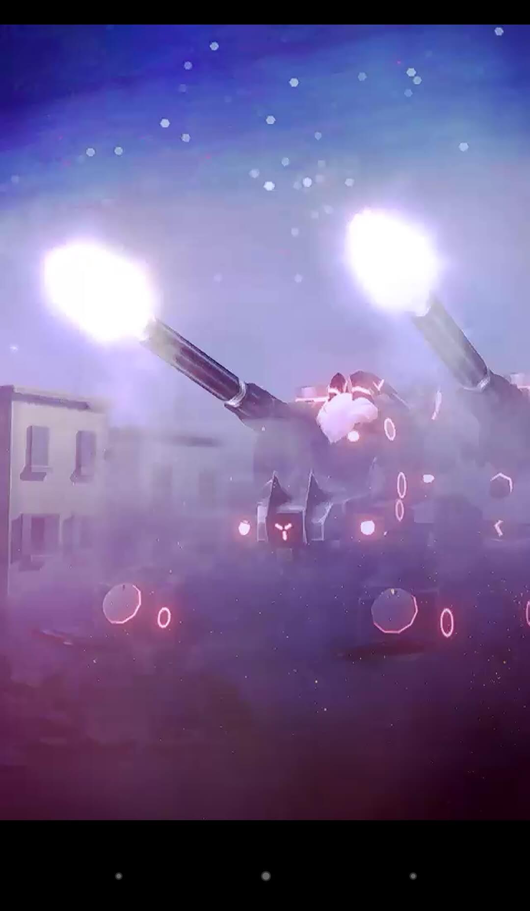 秘密兵器「アーク」が火を吹いている画像です