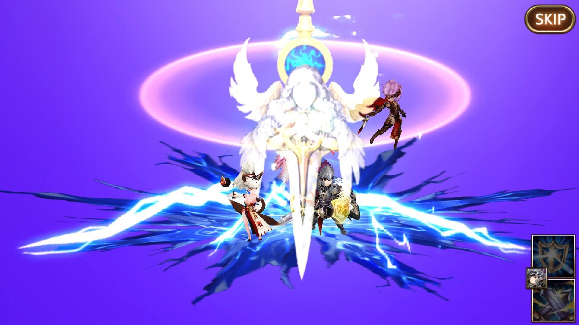 光り輝く剣が降り注ぎます。