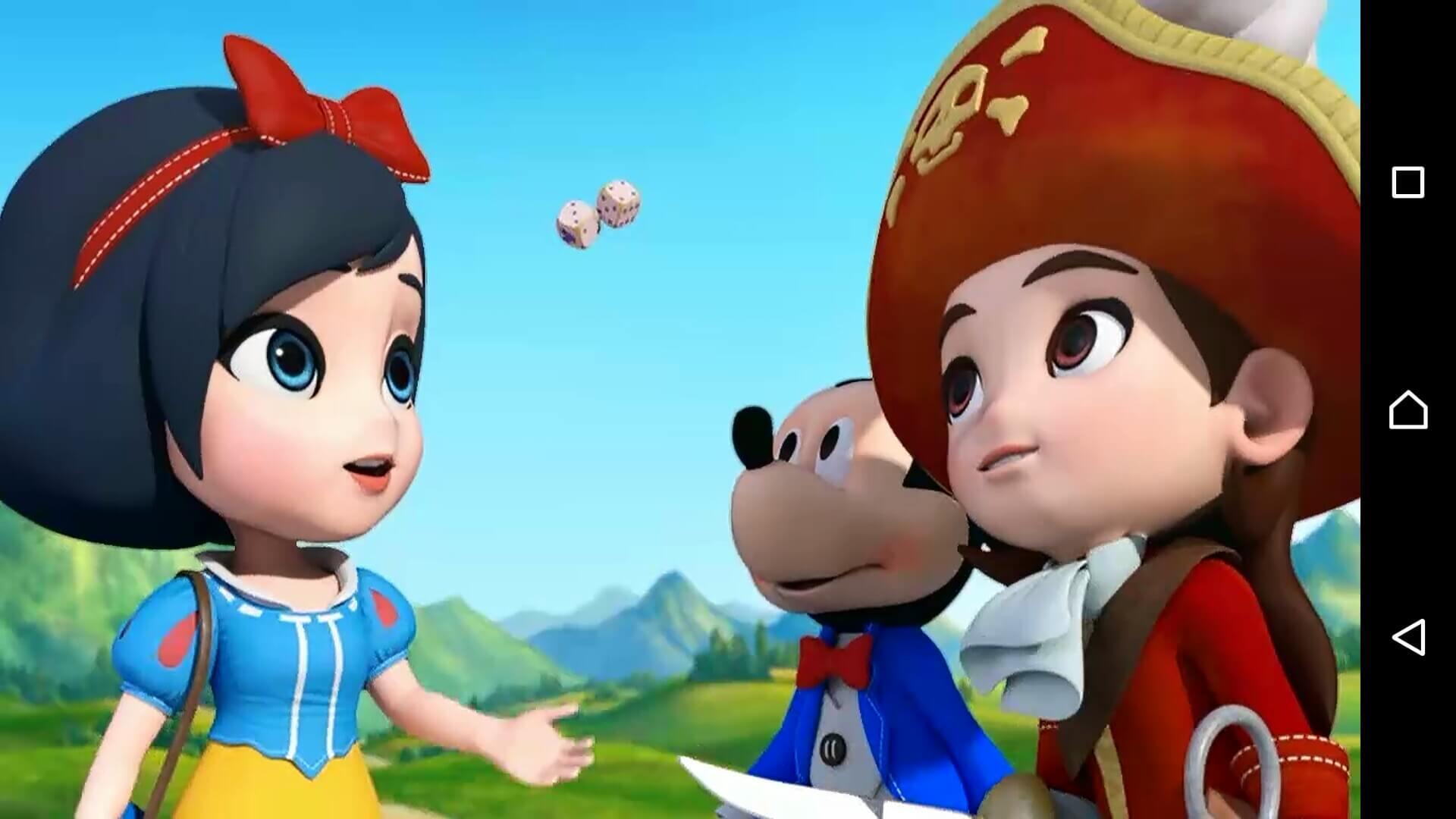 ディズニーマジカルダイス3 人気キャラクターのコスプレをする主人公たち