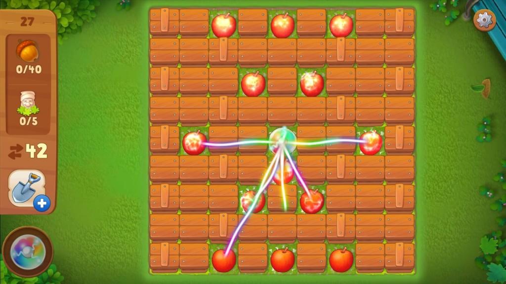 ガーデンスケイプ パズル画面
